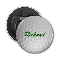 personalised golf ball magnetic bottle opener
