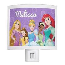 personalised disney princesses girls night light