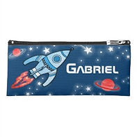 space rocket kids personalised pencil case