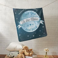 love you to the moon and back baby blanket