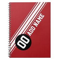 vintage racing stripes personalised notebook