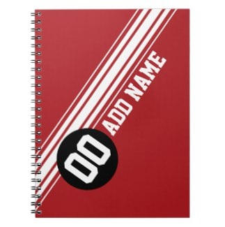 Red Stripes Notebook $12.95