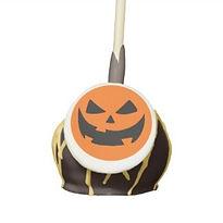 grinning pumpkin halloween cake pops