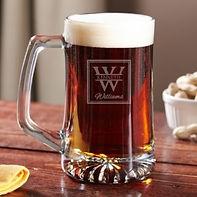 stylish engraved beer mug