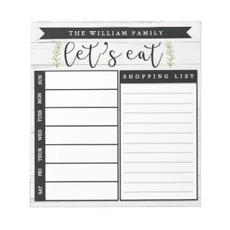 Stylish Meal Planner $9.95