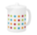 colorful dotty teapot