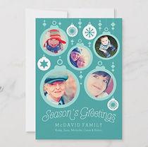 christmas baubles custom photo card