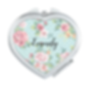 pretty watercolor roses and dots personalised compact mirror