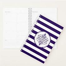 elegant nautical navy stripes personalised mens planner