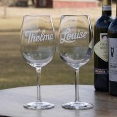 Carved Wine Glass Set $36