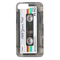 custom cassette tape retro iphone case