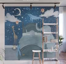 Elephants Bedtime Nursery Mural