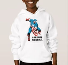 marvel brand captain america kids hoodie