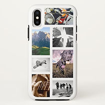 custom photo collage white iphone case