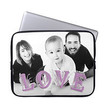 custom photo love laptop sleeve