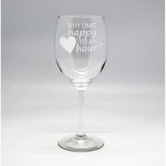 Custom Wine Glass $17.99