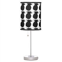 black and white pineapple pattern table lamp