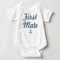 first mate nautical baby bodysuit