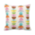 colorful retro pattern throw cushion