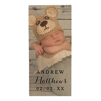 custom baby photo wood flash drive