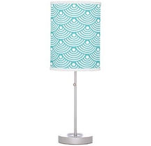 teal shell pattern table lamp