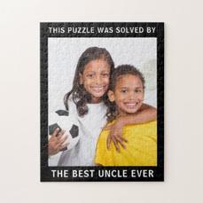 Best Uncle Photo Jigsaw $20