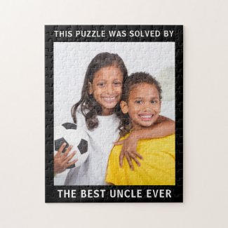 Best Uncle Photo Jigsaw $20