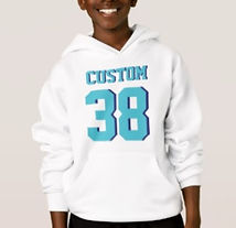 kids sports jersey number hoodies