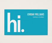 Eye-Catching Consultant Business Card
