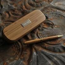 elegant bamboo wood pen gift set
