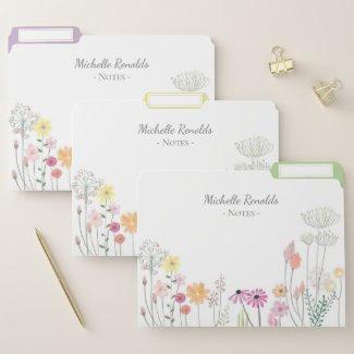 Floral File Folders $13.70