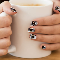 cute quirky halloween mummy nail decals