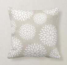 modern beige floral cushion