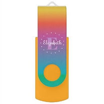 rainbow ombre personalised usb flash drive