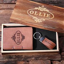 Custom Gift Set – Keychain & Journal with Box