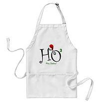 trendy ho squared christmas apron