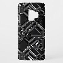 black circuit board samsung case
