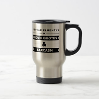 funny movie lovers quote travel mug