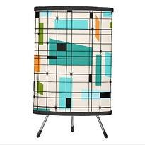retro grid pattern tripod lamp