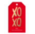xoxo valentines day gift tag