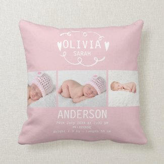 Baby Girl Cushion $34.50