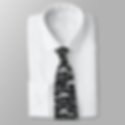 mustache pattern black and white neck tie
