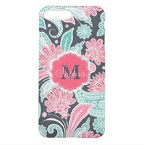 pretty paisley floral personalised iphone case
