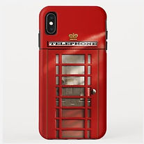 british red telephone box iphone case
