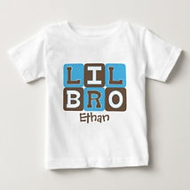 lil bro personalised baby brother shirt