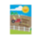 personalised kids tractor birthday age card