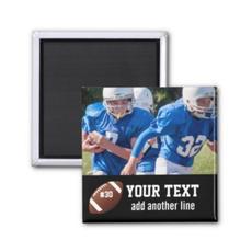 Photo Football Magnet $3.95