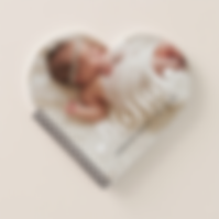 heart shaped baby photo journal notebook