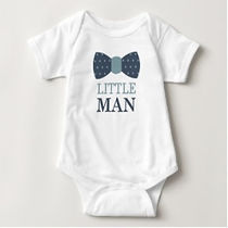 little man bow tie baby boy bodysuit
