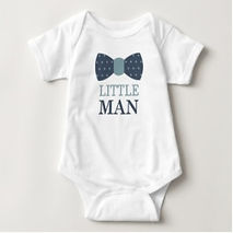 little man bow tie baby boy bodysuit